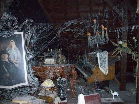 Interior of Disneyland's Haunted Mansion