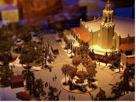 Scale model of Disney's Buena Vista Street