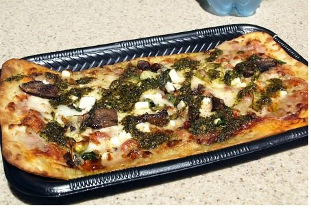 Mushroom pizza at Disney California Adventure