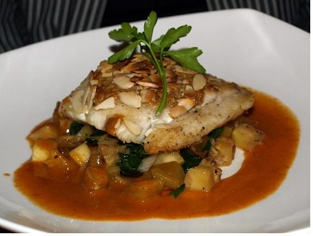 Almond-crusted black grouper
