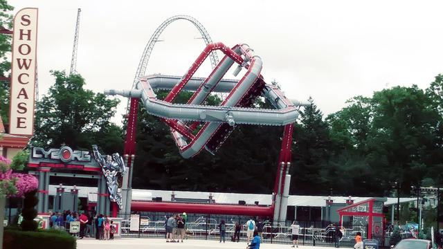 The ride in action
