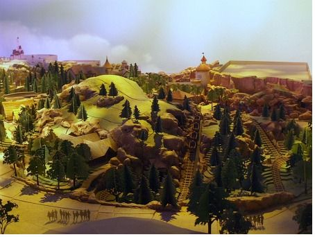 Model of the Seven Dwarfs Mine Train attraction exterior