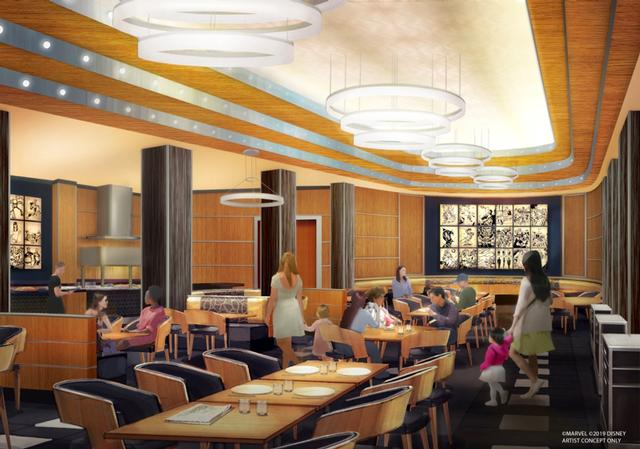 Disney's Hotel New York - The Art of Marvel restaurant concept