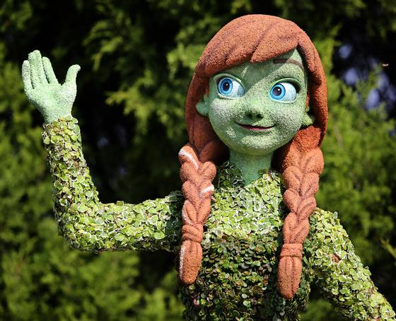 Princess Anna topiary