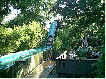The first log flume