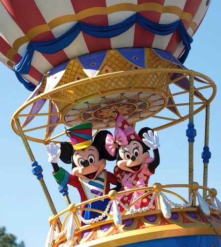 Mickey and Minnie at the Magic KIngdom