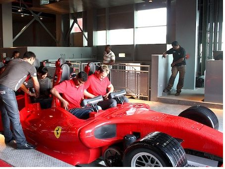 Employees prep Formula Rossa
