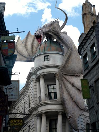 Dragon atop Gringotts