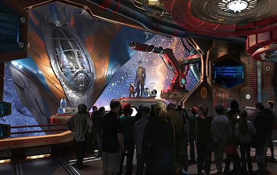 Guardians of the Galaxy ride photo, from ThemeParkInsider.com