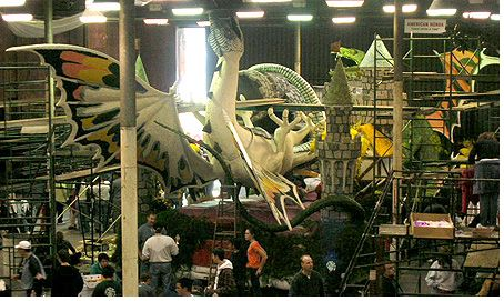Honda Montors' Dragon float for the 2007 Rose Parade