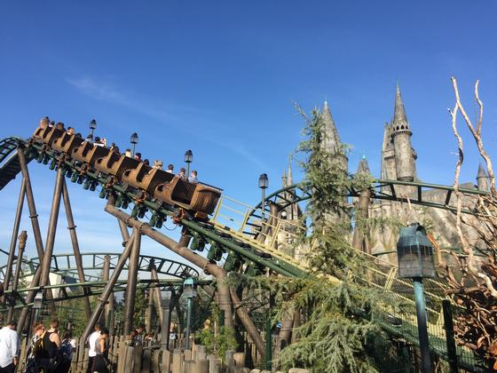 flight of the hippogriff at universal studios hollywood