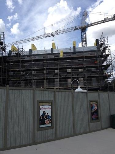 Diagon Alley construction