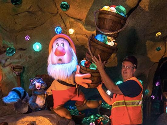 Inside the Seven Dwarfs Mine Train