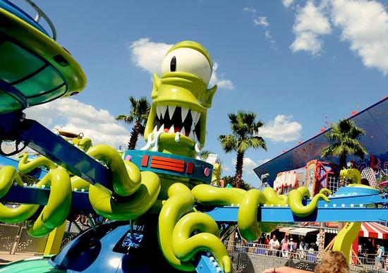 Kang and Kodos' Twirl 'n' Hurl photo, from ThemeParkInsider.com