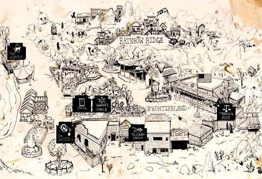 Legends of Frontierland map