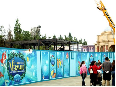 The Little Mermaid ride, under construction