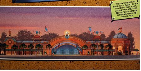 Concept art for The Little Mermaid Ride