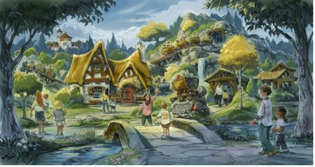 Seven Dwarfs Mine Train exterior concept art