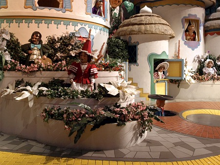 Munchkinland in the Wizard of Oz scene in the Great Movie Ride
