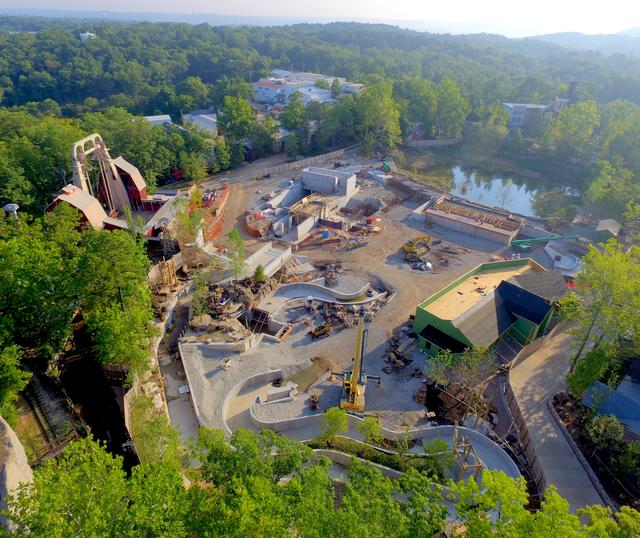 Mystic River Falls construction status