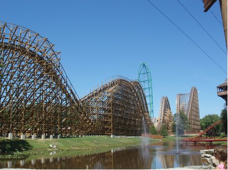 El Toro and Kingda Ka at Six Flags Great Adventure