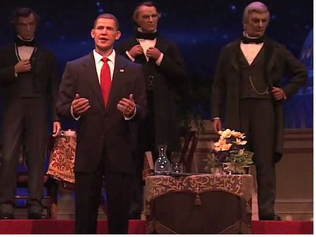 Obama in the Hall of Presidents