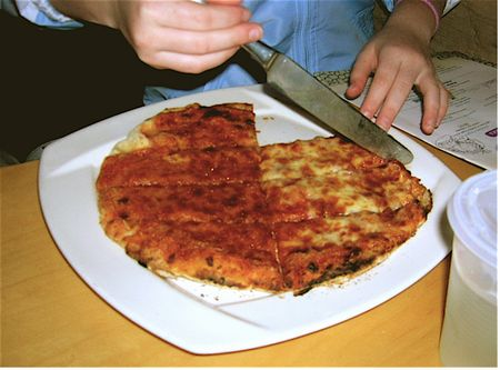 Two-cheese pizza