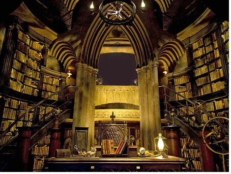 Dumbledore's office, at Universal Orlando