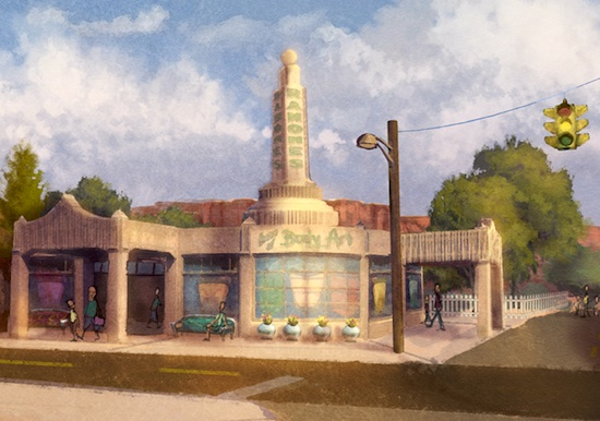 Disney's concept art for Ramone's