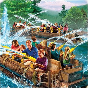 River Battle concept art, courtesy Dollywood
