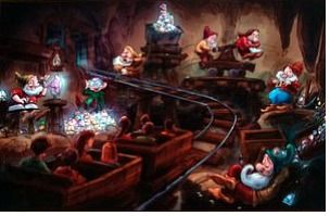 Seven Dwarfs Mine Train interior concept art