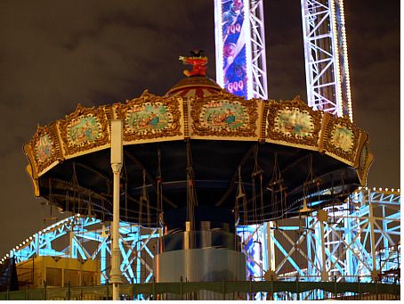 Mickey's Silly Symphony Swings, at night