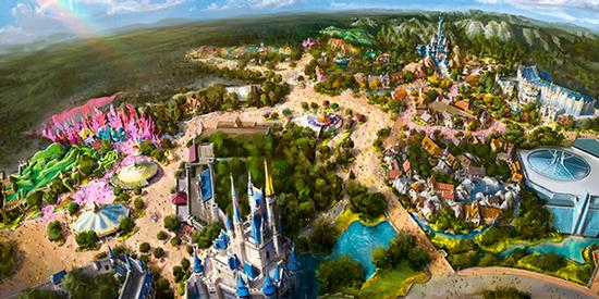 Concept art for new Fantasyland in Tokyo