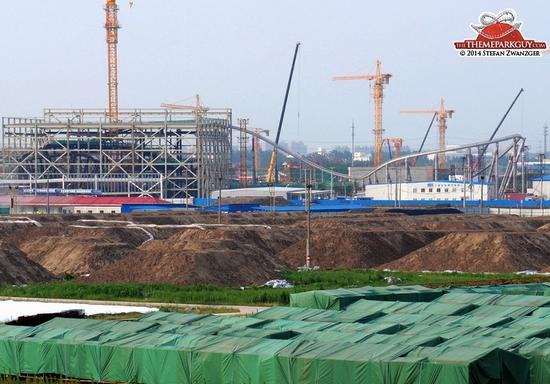Tron coaster under construction at Shanghai Disneyland