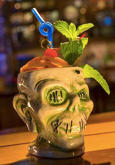 Shrunken Zombie Head at Trader Sam's