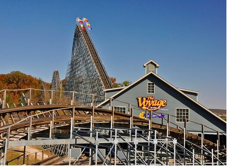 Holiday World's Theme Park Insider tournament-winning roller coaster, The Voyage