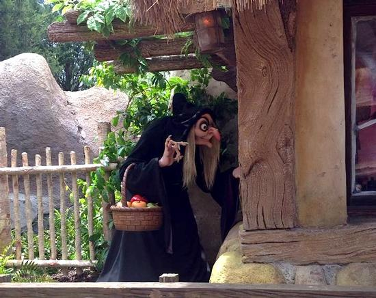 Wicked Witch on the Seven Dwarfs Mine Train